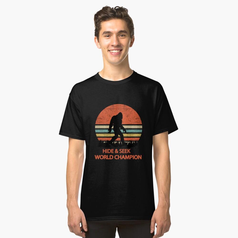 87eb1711 Classic T-Shirt. Bigfoot Hide and Seek World Champion Sasquatch Undefeated  by Aimen246