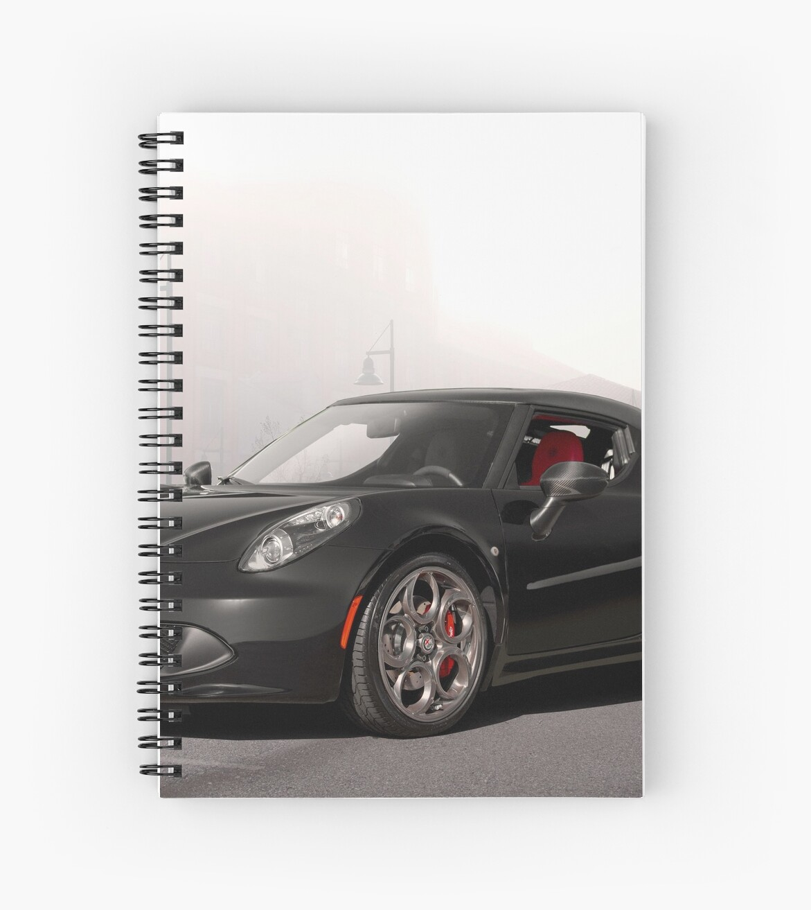 """""""2018 Alfa Romeo C4 Sports Coupe"""" Spiral Notebook By"""
