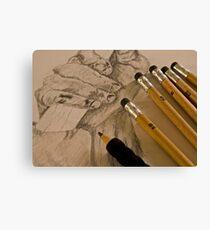Pencil Sketching Canvas Print