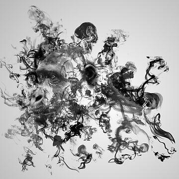 Smoking gorilla by allthismusic