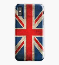 Old and Worn Distressed Vintage Union Jack Flag iPhone Case