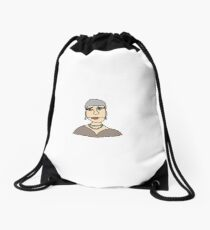 Older pretty woman Drawstring Bag
