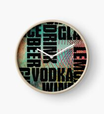 Drink text Clock