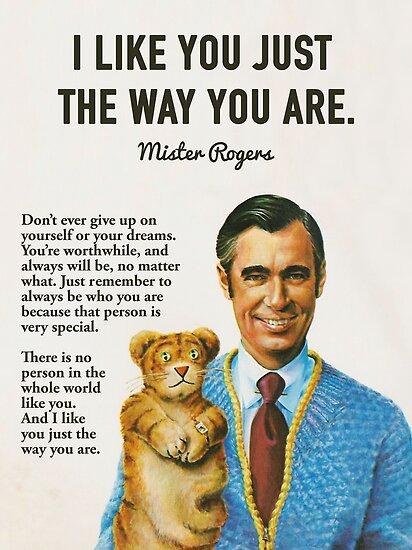 Herr Rogers inspirierende Zitate von fixedgearnyc
