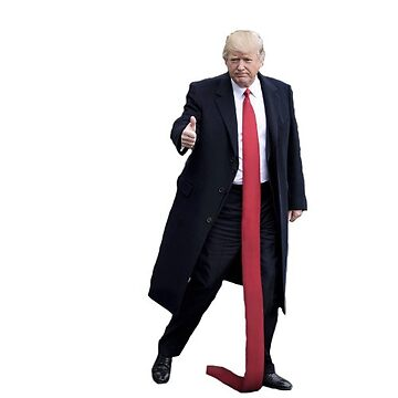 Trump Long Tie Stickers by Dipardiou