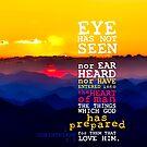 1 Corinthians 2:9 Verse Sunset Sky Print by ScripturePics