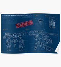 Metal Gear Solid Rex - Blaupausen Poster