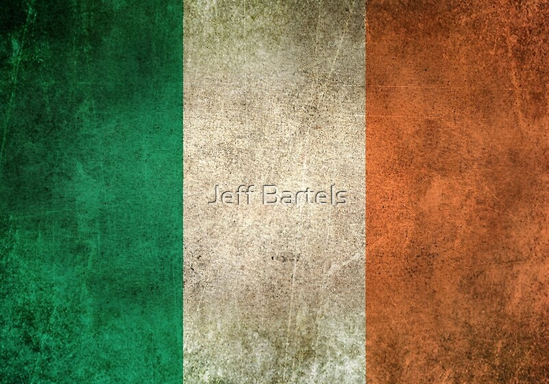 """""""Old and Worn Distressed Vintage Flag of Ireland"""" Art Prints by jeff bartels 