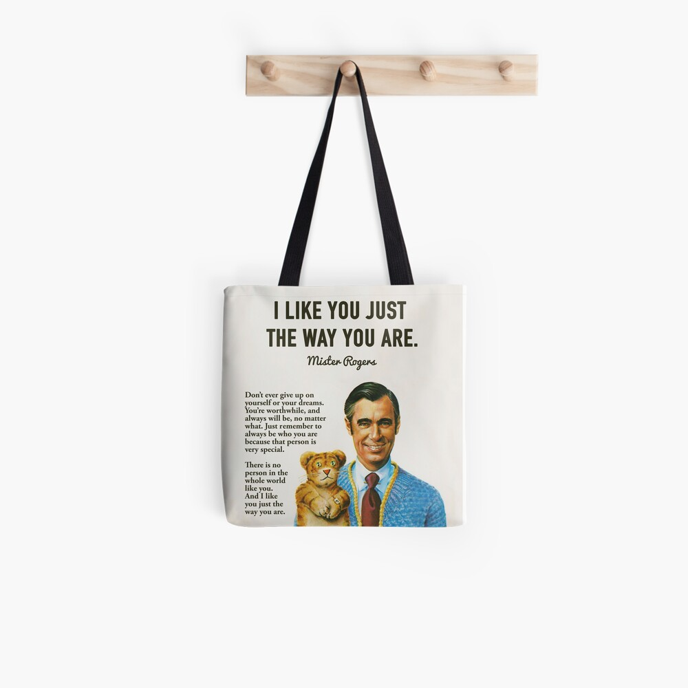 Mr Rogers Inspiring Quotes Tote Bag