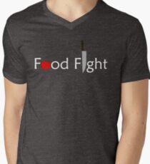 Food Fight. Men's V-Neck T-Shirt