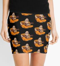 Buddha Playing Guitar Yoga Zen Music Meditation Funny Mini Skirt