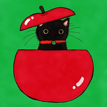 Apple Cat by emastrations