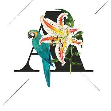 Botanical Alphabet A von froileinjuno