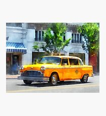 Vintage Checkered Cab Photographic Print