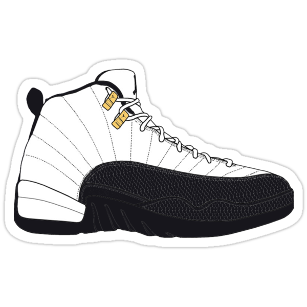 Air jordan xii 12 taxi stickers by gaeldesmarais