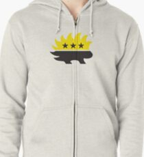 Ancap AnarchoCapitalist Porcupine black and yellow HD HIGH QUALITY Zipped Hoodie