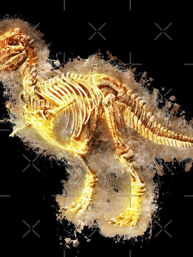 T rex skeleton glowing Art von VincentW91