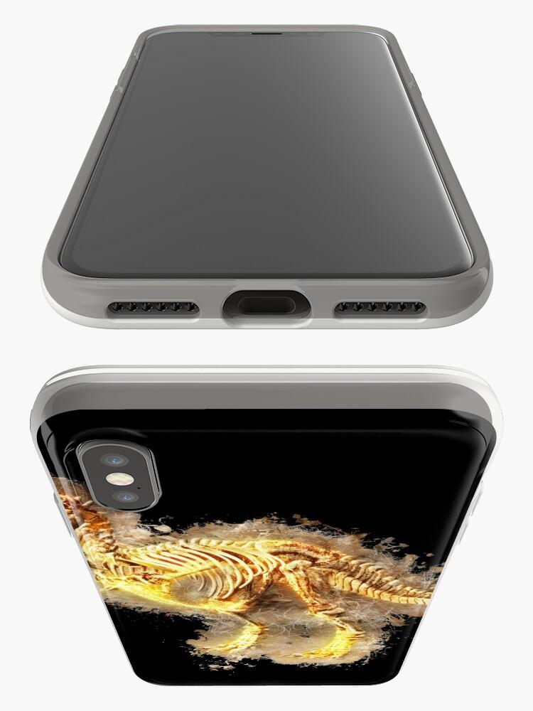 Alternative Ansicht von T rex skeleton glowing Art iPhone-Hüllen & Cover