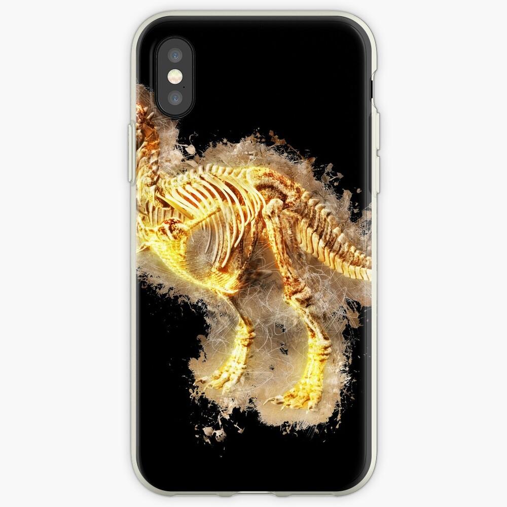 T rex skeleton glowing Art iPhone-Hüllen & Cover