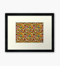 Psychedelic Apples of Death Framed Print