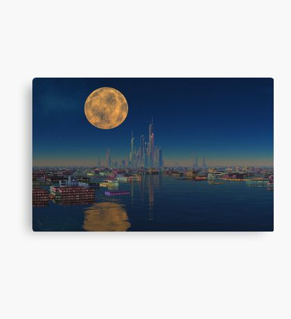 City on the Bay Canvas Print