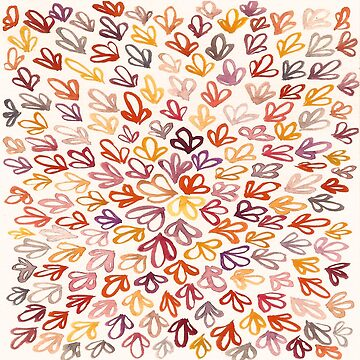 Warm watercolor abstract pattern by skinnyginny