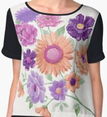 Blooms Blooms Blooms Chiffon Top