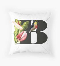 Botanical Alphabet B Kissen