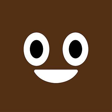 Poop Emoji Face by mongolife