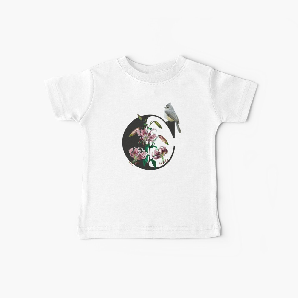 Botanical Alphabet C Baby T-Shirt