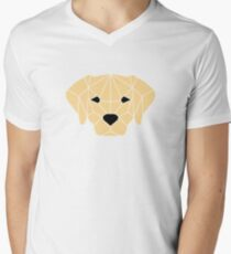 Yellow Labrador Men's V-Neck T-Shirt