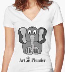 Dumpling Women's Fitted V-Neck T-Shirt