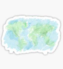A messy world - watercolor Sticker