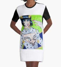 Ezra Miller as Buccellati From The 5th Jojo's Bizarre Adventure Arc   Graphic T-Shirt Dress