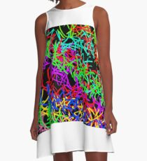 muster bunt  A-Line Dress