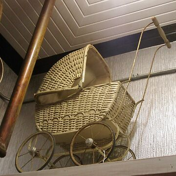 Vintage Wicker Baby Carriage, circa 1900 - 1910 by Shulie1