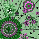 Mandala -- Pink and Green by Clare Wuellner
