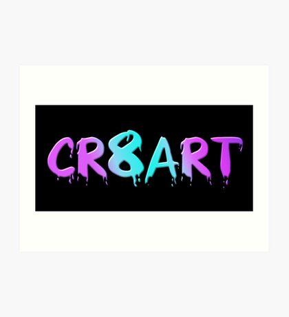Create Art! - Candy Colors on Black Art Print