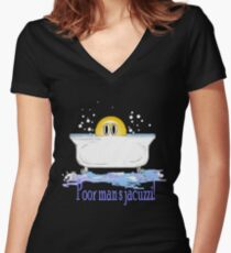 Poor Man's Jacuzzi Women's Fitted V-Neck T-Shirt