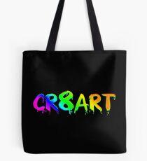 Create Art! - Rainbow colors on Black Tote Bag
