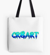 Create Art! - Turquoise and Blue on White Tote Bag