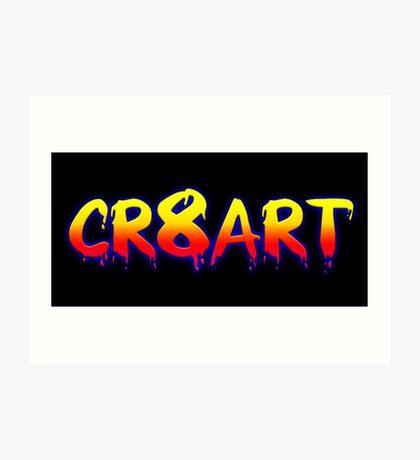 Create Art! - Yellow and Orange on Black Art Print