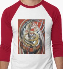 Composition with red Men's Baseball ¾ T-Shirt