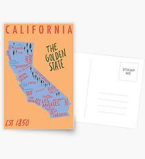 California State Karte Postkarten