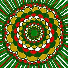 Christmas Mandala by Clare Wuellner