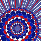 Happy 4th of July Mandala by Clare Wuellner