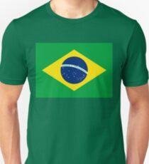 Flag of Brazil Horizontal Unisex T-Shirt