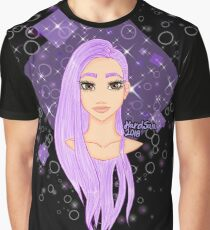 purple hair (black background) Graphic T-Shirt