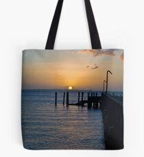 Sunset over the pier 2 Tote Bag