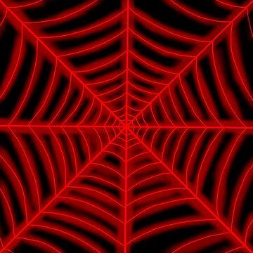 spider web (red glowing) by Hardsara